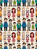 seamless family pattern