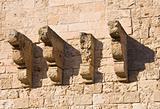 Detail of the Monopoli Castle. Apulia.