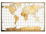 Old Brown paper World map
