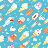 a pattern of funny ice cream