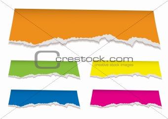 florescent torn paper header