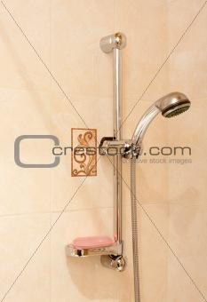 Bathroom room chromed shower