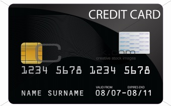 Credit Card in Black