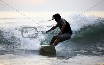 Surfer in ocean