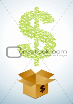 Box of dollars