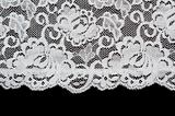 White pattern lace