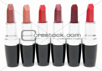 Lipstick stands in row