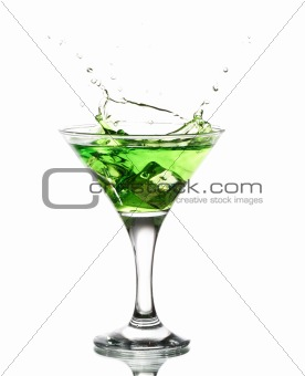 green martini cocktail