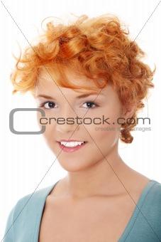Casual redhead woman portrait