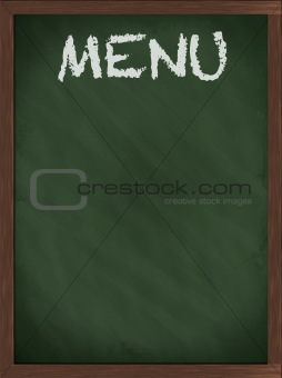 Green Menu blackboard