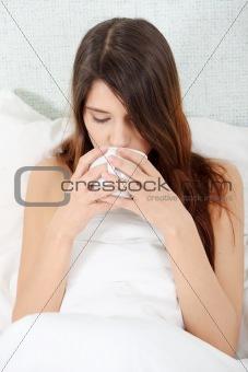 Cute woman drinking a coffee