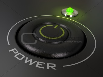 power button - starting a personal computer, pc