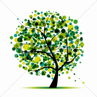 Abstract tree green for your design