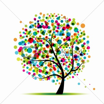 Abstract spring tree for your design
