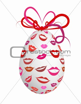 Kissed easter egg for your design