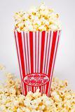 Popcorn in a holder