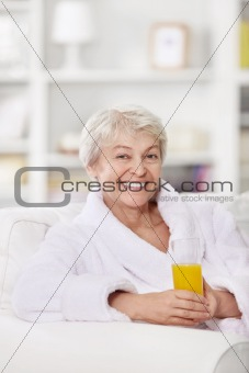 A happy older woman