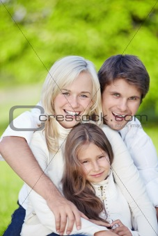 Smiling family