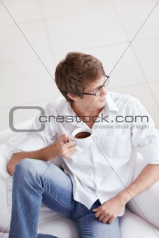 Attractive man with coffee