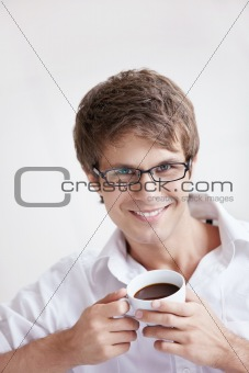 Portrait of a Man with coffee