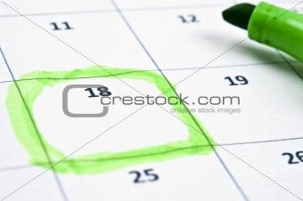 Calendar mark