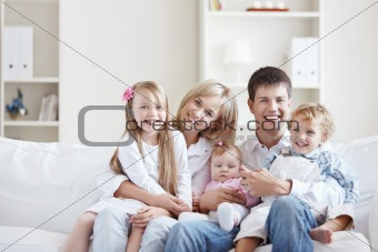 Joyful family