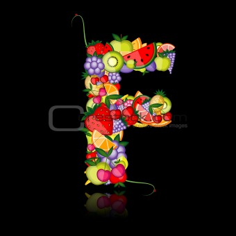 Fruit letter for your design. See others in my gallery