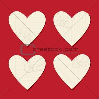 Valentine cards from sheet of paper for your design
