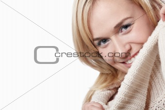 Attractive girl in a sweater