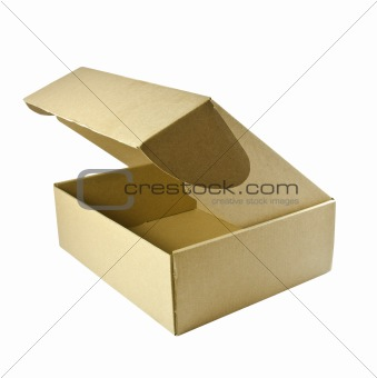 Cardboard box with a clipping path