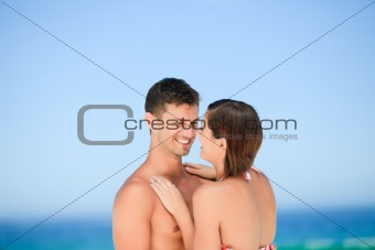 Beautiful couple at the beach