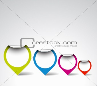 Colorful Round labels / pointers