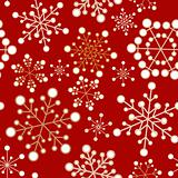 Red and golden christmas seamless pattern