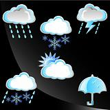 Rainy season - Set of weather icon