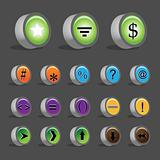 Numerical symbols - Collection of different numeric buttons