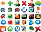Set of graphic icons on white