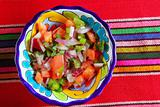 Pico de gallo tomato and chili Mexican sauce
