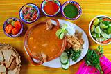 shrimp seafood soup mexican chili sauces nachos