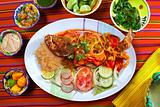 Veracruzana style grouper fish mexican seafood chili