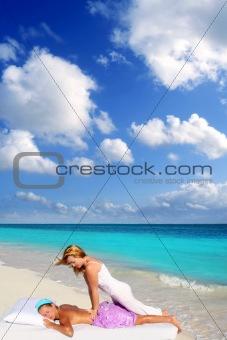 Caribbean beach massage shiatsu waist therapy