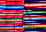 Mexican serape fabric colorful pattern texture