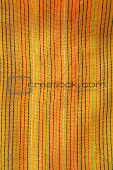 Mexican serape vibrant yellow macro fabric texture
