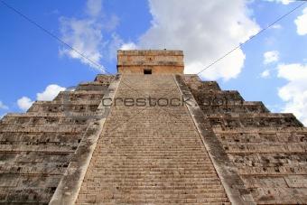 Chichen Itza Mayan Kukulcan pyramid in Mexico