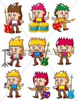cartoon rock music band icon