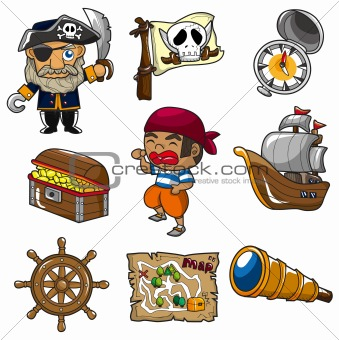 cartoon pirate icon