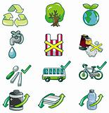 cartoon eco icon