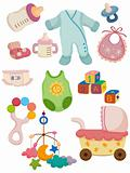 cartoon baby stuff icon