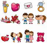 cartoon Valentine icon