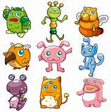cartoon monster icon