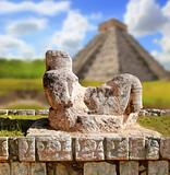 Chac Mool Chichen Itza figure Mexico Yucatan